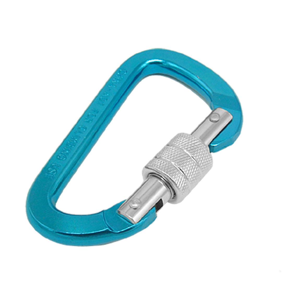 Bi-colored Painted D Shaped Large Aluminum Carabiner Blue