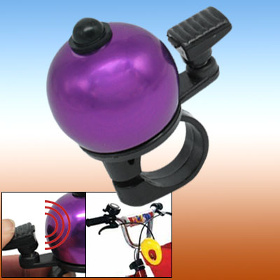 Purple Black Bike Bicycle Bell With Ball Shape Design