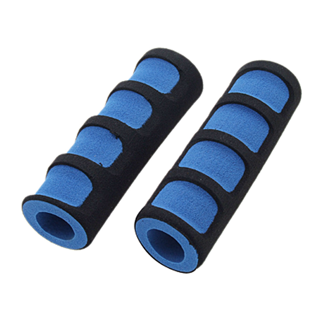 2PCS Foam Road Bike Bicycle Handle Bar Grips Black and Blue