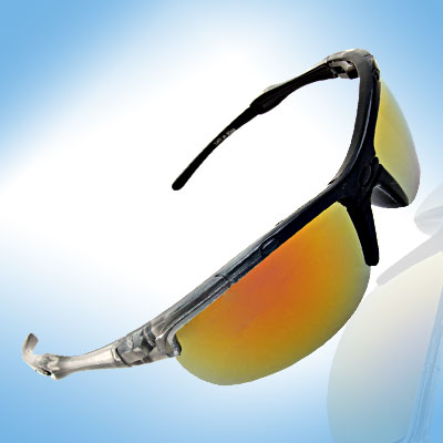 Color Tinted Lens and Translucent Black Frame Women's Sunglasses