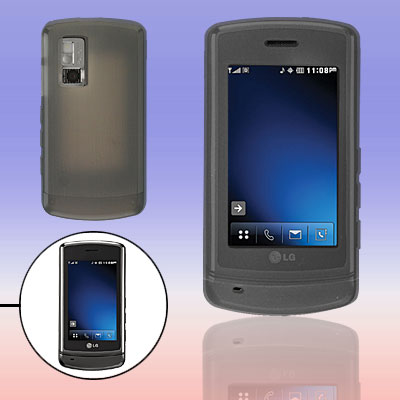 Gray Silicon Skin Shield Case for LG Glimmer AX-830