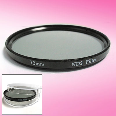 Neutral Density ND2 Filter Lens Protector 72mm for Camera