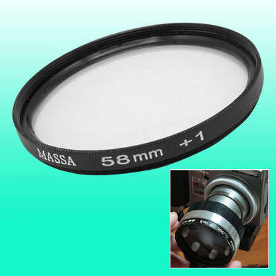 58mm Camera Close-up Lens f250mm Filter +1 for Minolta / Olympus / Camera