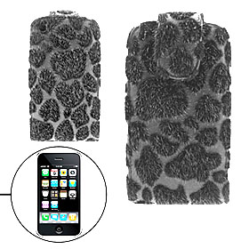 Panther Magnetic Flip Leather Pouch Holder Case for Apple iPhone