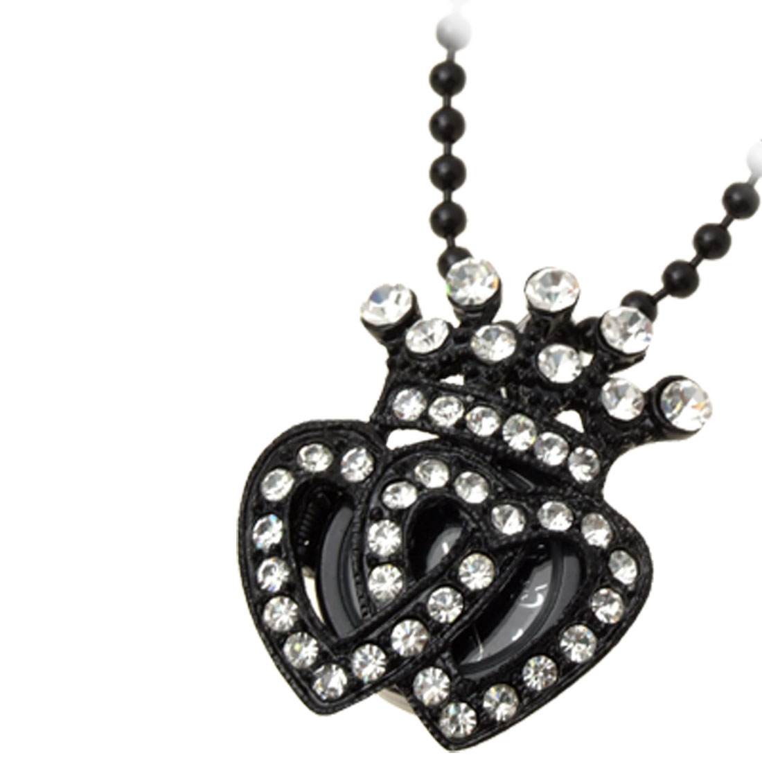 Fashion Jewelry Rhinestone Crown Pendant Necklace Women's Watch