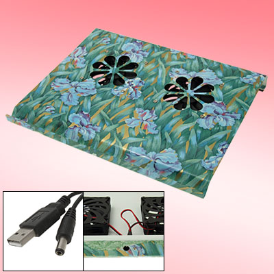 USB 2 Fan Quiet Cooling Cooler Pad for Laptop Notebook