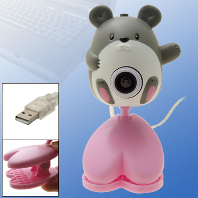 Toys Cartoon Mouse Digital USB PC Camera Webcam with Clip