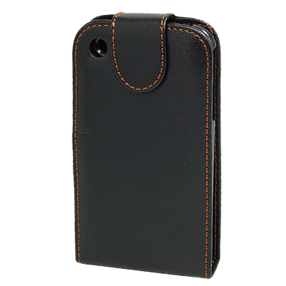 Flip Magnetic Soft Black Leather Case Holder for Apple iPhone 3G
