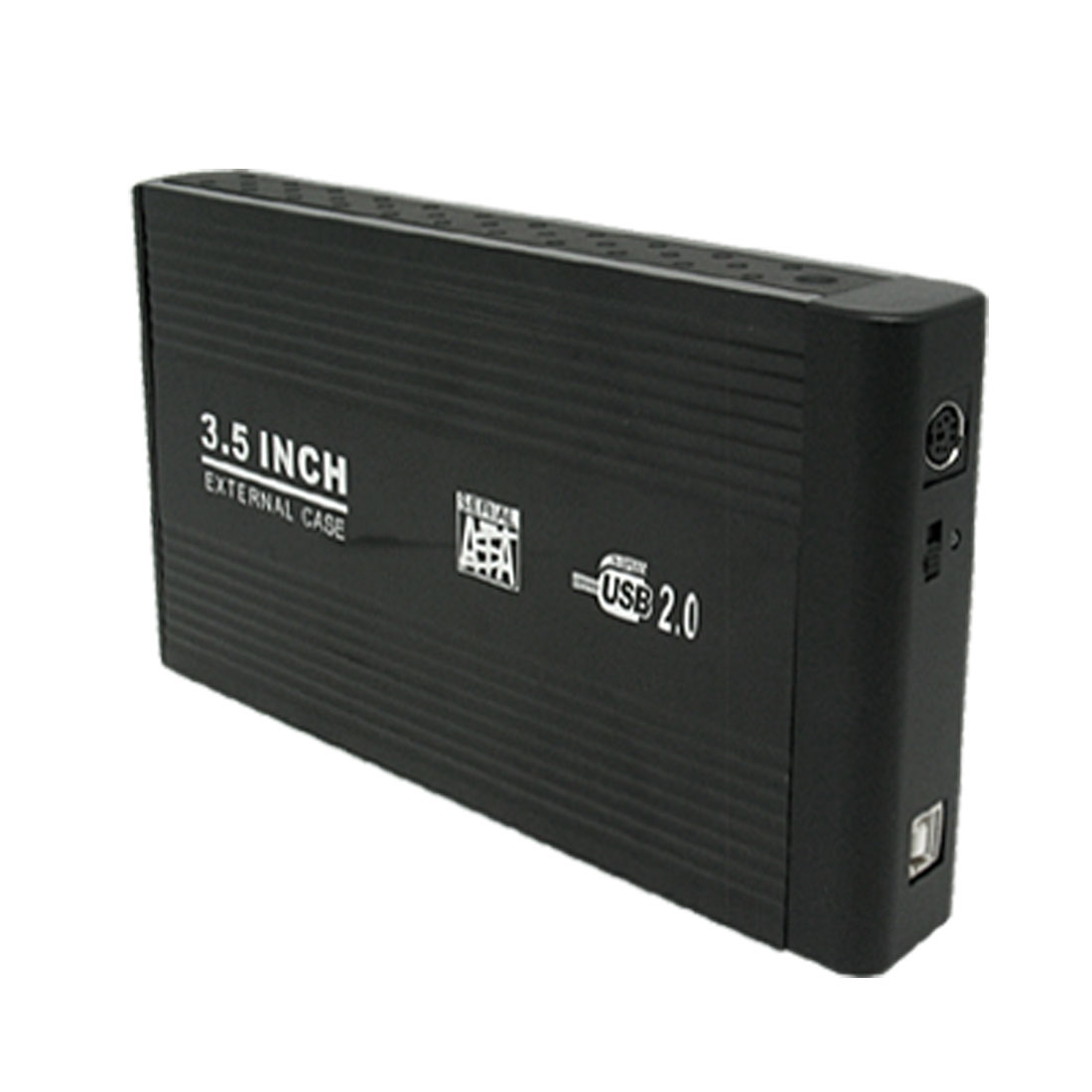 "US Plug AC100-240V 3.5"" USB 2.0 to SATA HDD Hard Drive Disk External Case Enclosure Black"