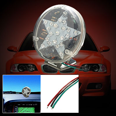 Super Fashion Bright Star Pattern Car Automobile Flash Light TR - 185