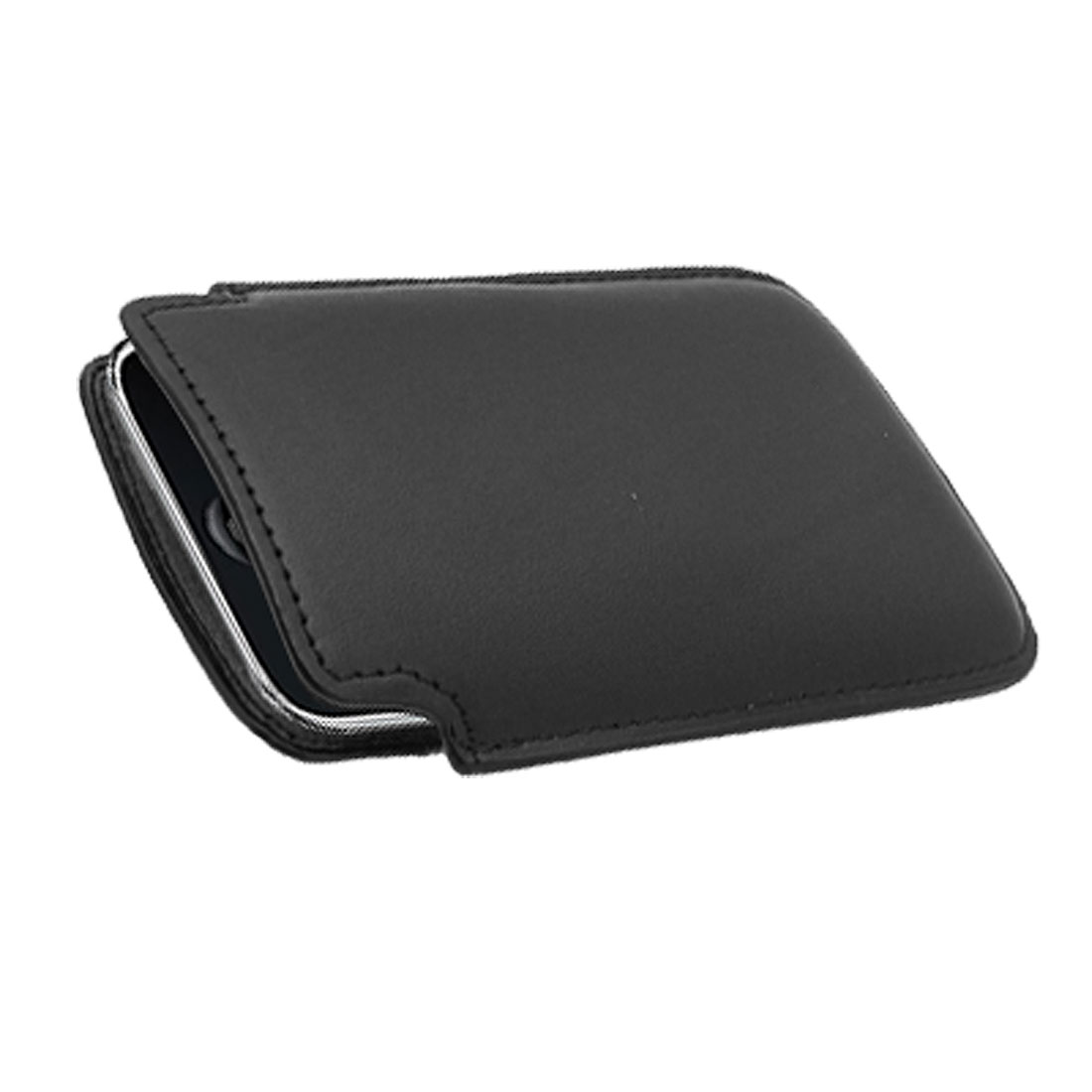 Elegant Leather Black Sleeve Case Pouch for Apple iPhone 3G / 3GS