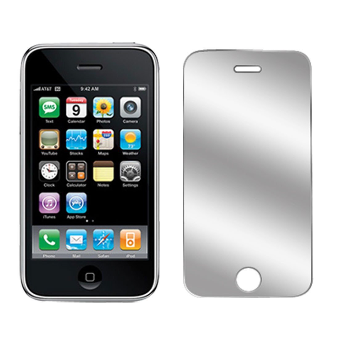 Mirror LCD Screen Guard Protector Film Shield for Apple iPhone 3G 2nd