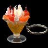 Beautiful Yellow Transparent Cherry Cream Jelly Jello Key Chain