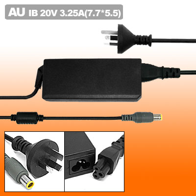 20V 3.25A Laptop AC Adapter with AU Power Cord for IBM ThinkPad T60 X60 ( 92P1158 )