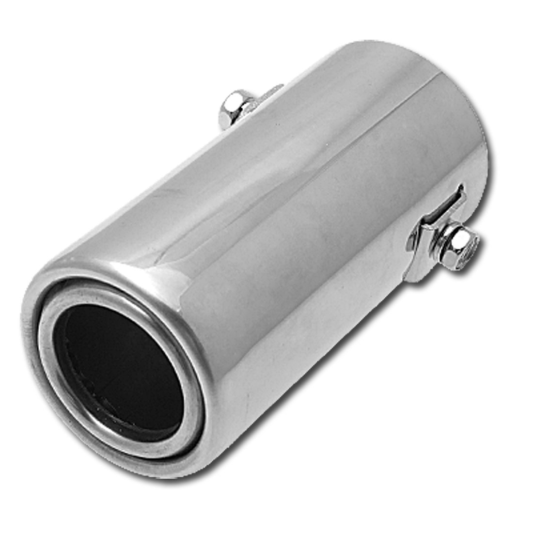 Universal Car Auto Stainless Steel Exhaust Muffler Silvery (XB-639)