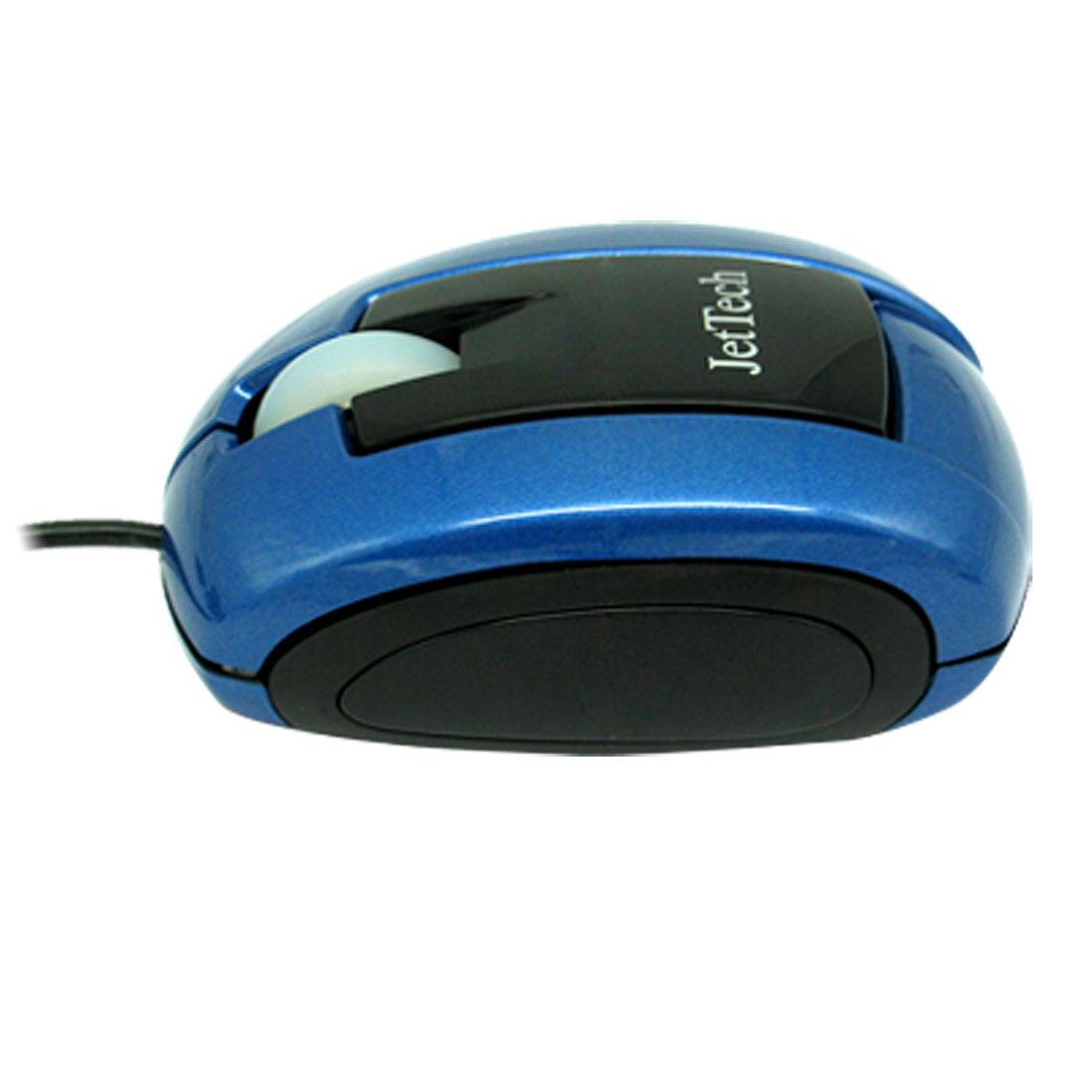 Vista PC Laptop Computer 3D Optical Scroll Wheel PS/2 USB Blue Mouse