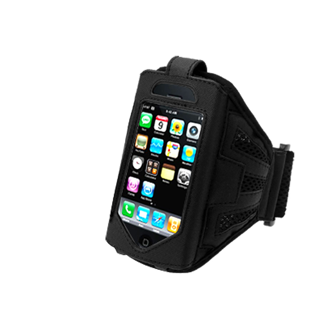 Running Exercise Sport Armband Case Holder with Flap Black for Apple iPhone 3G