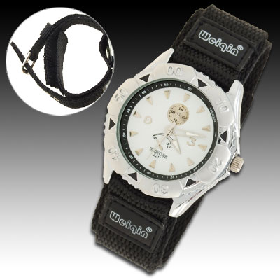 Night Vision Hands Dual Nylon Band Sports Water Resistant Men's Wrist Watch