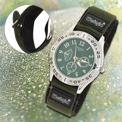 Ladies' Camouflage Army Dual Nylon Band Sports Water Resistant Wrist Watch