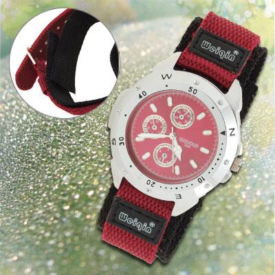 Ladies' Dual Nylon Band Poppy Sports Water Resistant Wrist Watch