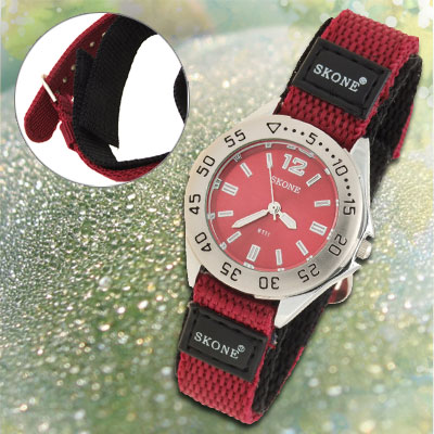 Dual Nylon Band Poppy Sports Water Resistant Girl's Wrist Watch