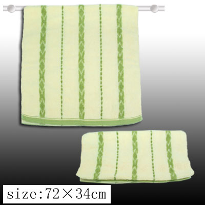 Cotton Bath Hand Face Towel Washcloth Milk White and Green