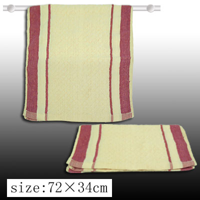 Milk White and Crimson Hand Face Bath Cotton Washcloth Towel