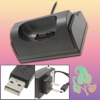 US Plug Desktop Adapter USB Charger 100V-240VAC 120mA for Plam Treo Centro