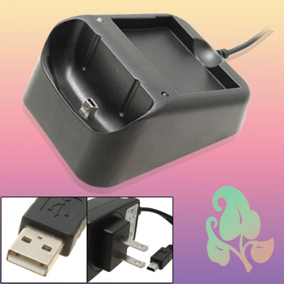 US Plug 100-240V AC Adapter USB Sync Charger Cradle for HTC Touch Diamond