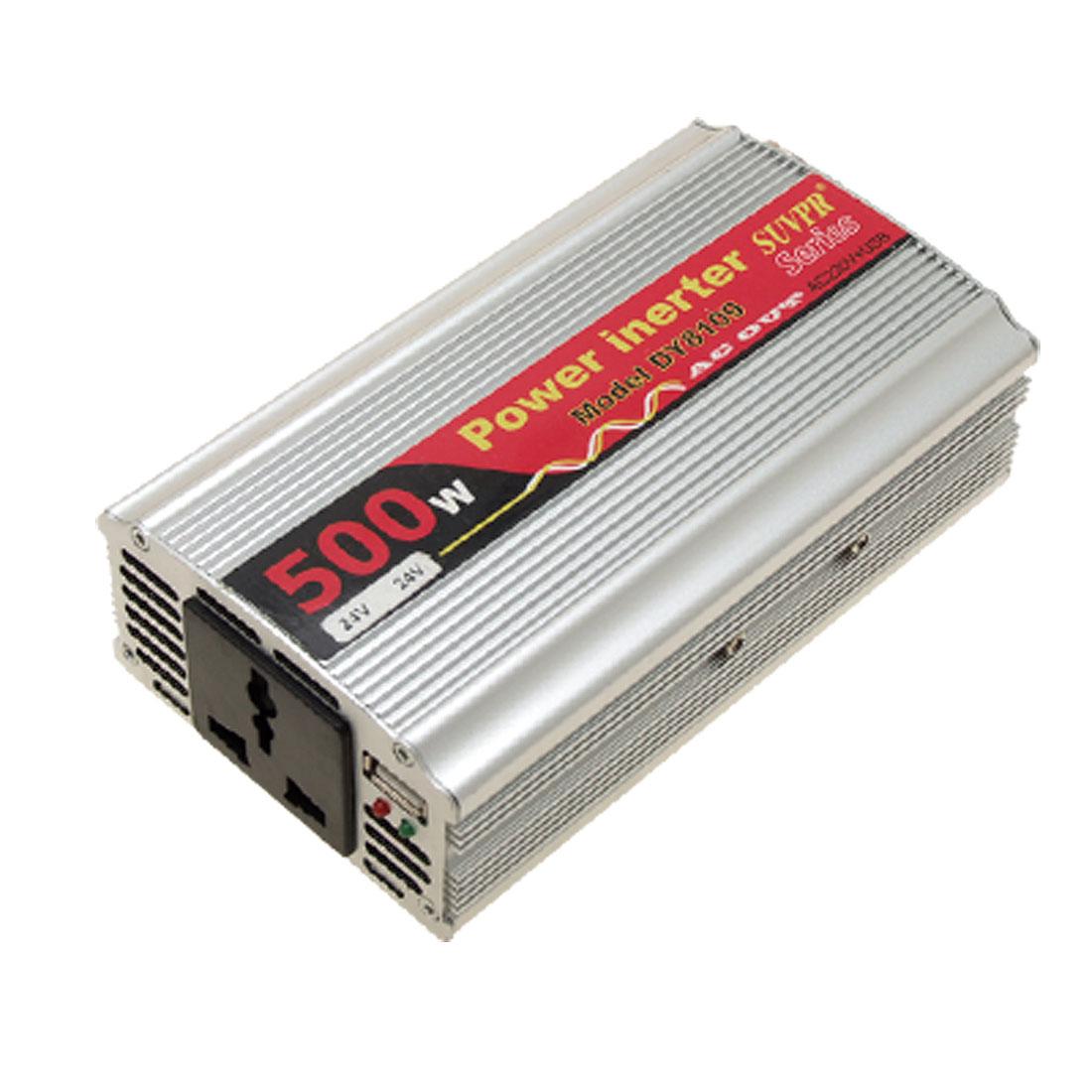 Car 500W DC 24V to AC 220V + One USB2.0 Power Inverter