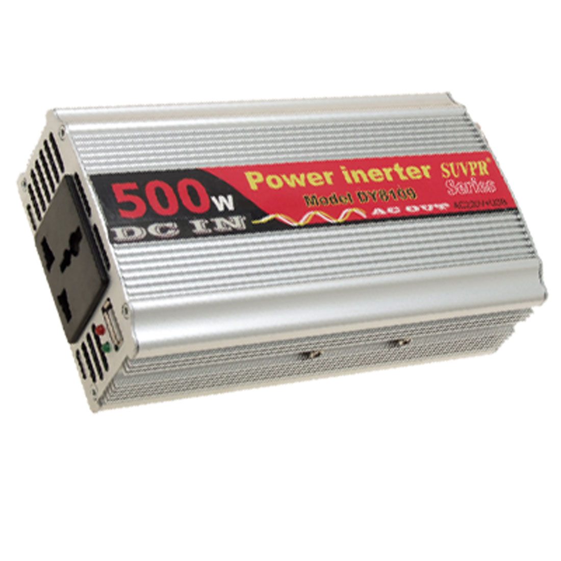 500W Car DC 12V to AC 220V + One USB2.0 Power Inverter