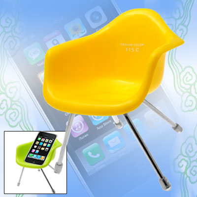 Plastic Holder for Phone 3G Cell Phone Yellow