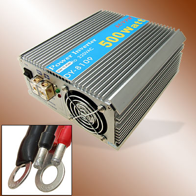 500W Car DC 24V to 2 Output AC 220V Power Inverter Charger