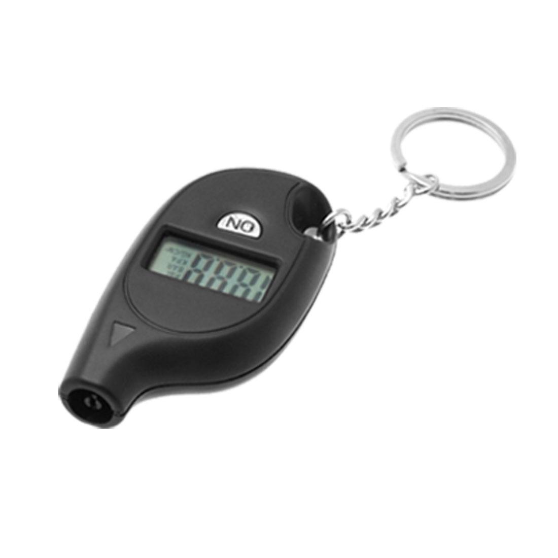 Black Mini Key Ring Digital Tyre Gauge
