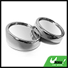 "2pcs Silver Tone 1.5"" Auto Car Side Rear View Convex Round Blind Spot Mirrors"