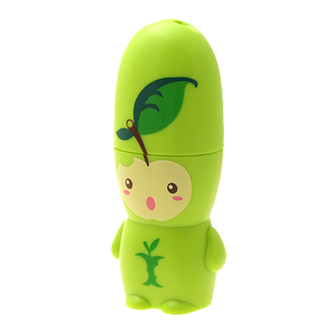 Portable Ultra Small Cartoon Apple Pattern Battery Powered Green Fan