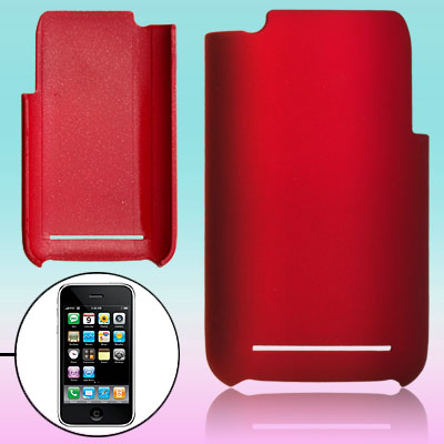 Crimson Color Hard Plastic Back Case Cover Shell for Apple iPhone 3G / 3GS