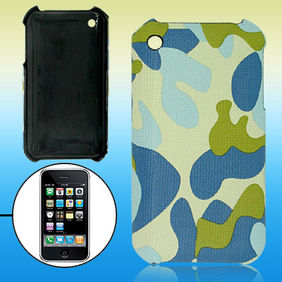 Camouflage Leather Covered Hard Plastic Case for Apple iPhone 3G / 3GS
