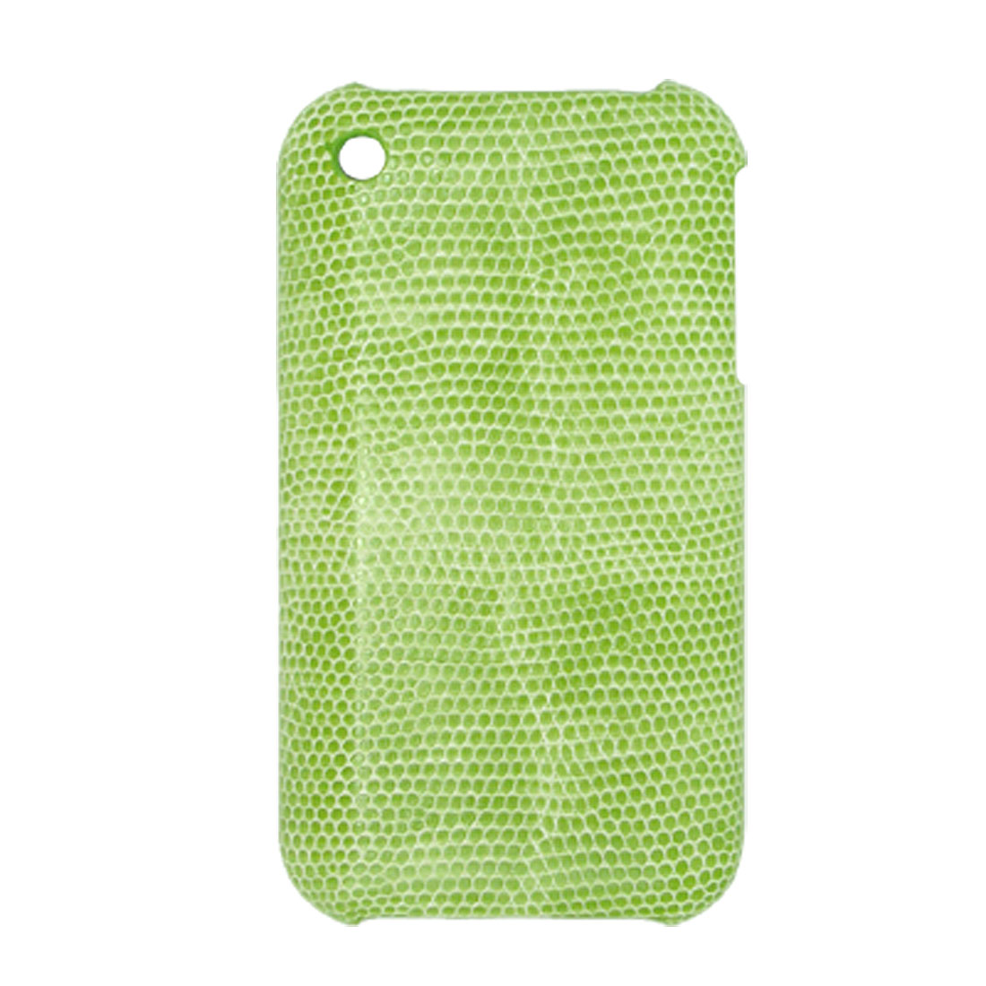 Green Snakeskin Leather Hard Plastic Back Case for Apple iPhone 3G / 3GS