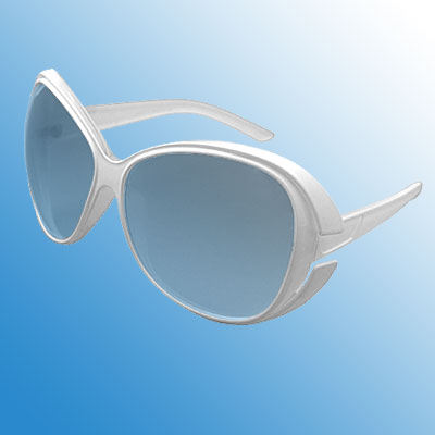 Fashion Oversized Lens White Frame Lady's Eyewear Sunglasses