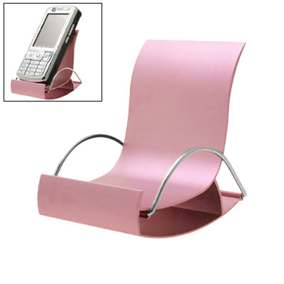 Silver Tone Pink Metal Hard Holder Stand for Phone Mp3 Mp4