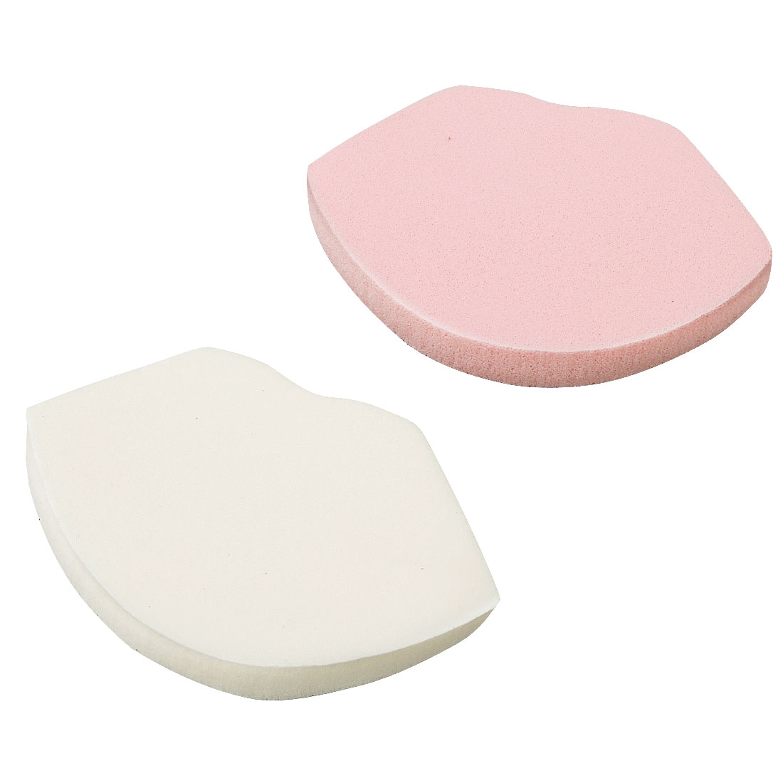 Cute Pair Sponge Lip Design Make Up Face Powder Puff