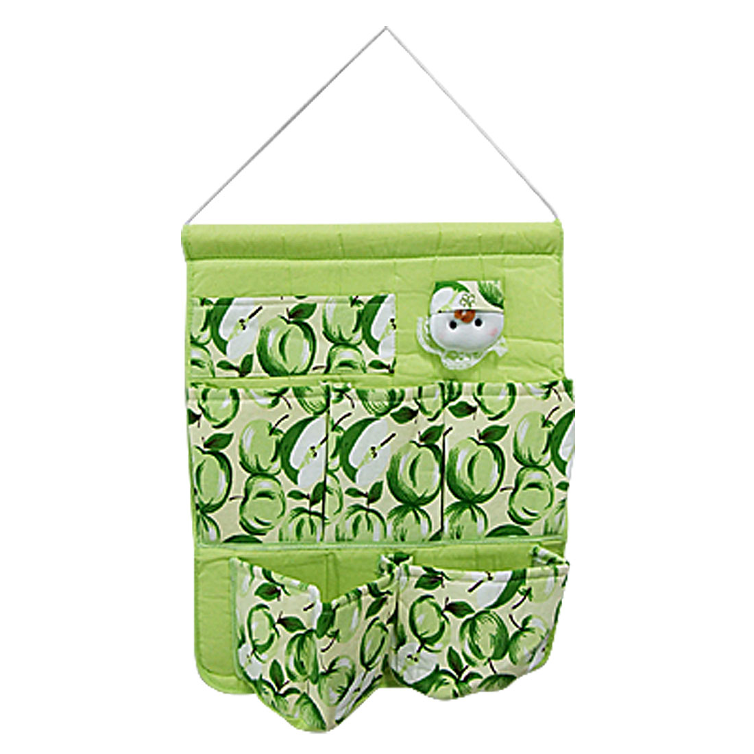 Fruit Pattern Green Cloth Home Gadget Wall Hanging Bag