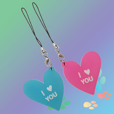 Fashion I LOVE YOU Heart Pendant Charm for Cell Phone