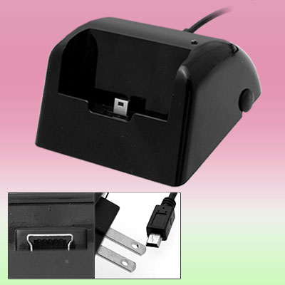 US Plug 100-240V AC Adapter USB Charger Cradle for HTC Touch Diamond