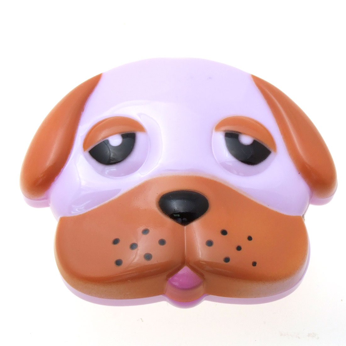 Purple Brown Cartoon Dog Mirror with Comb