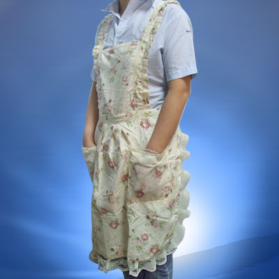 Flowers Primrose Pattern Lace Kitchen Home Apron with Bib