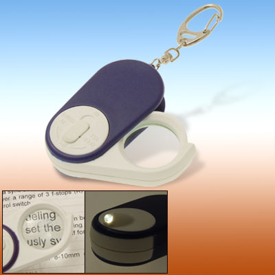 3 in 1 Keychain LED Light Reading Map 4X Magnifier