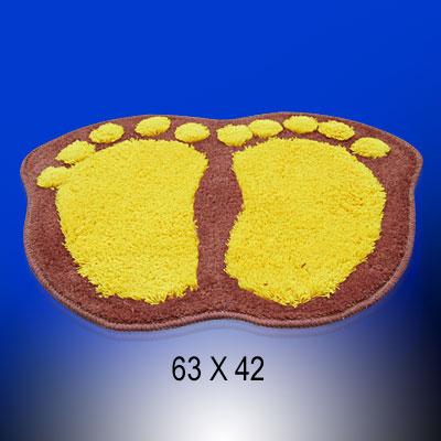 Footprint Pattern Anti-Slip Bathroom Kitchen Bath Mat Soft Carpet