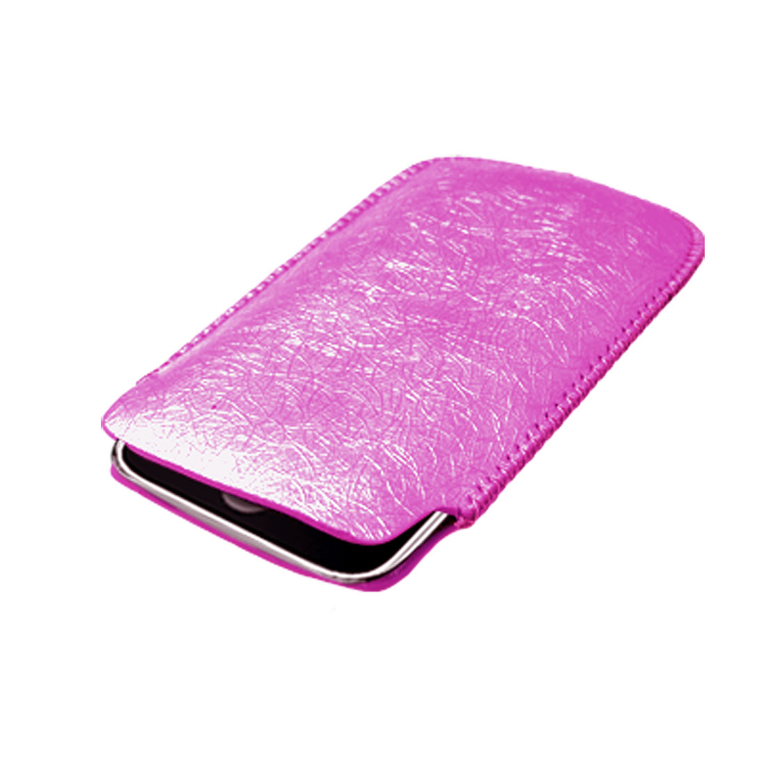 Purple Portable Faux Leather Sleeve Case for Apple iPhone 1st Generation non 3G